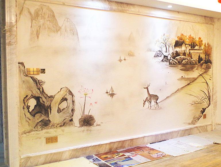 张家港锦润华庭沙发背景墙
