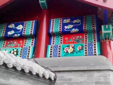 古建筑墙体彩绘