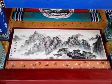 古建筑彩绘墙体