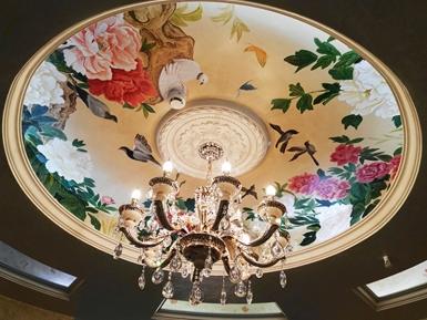 客厅顶面无锡墙体彩绘