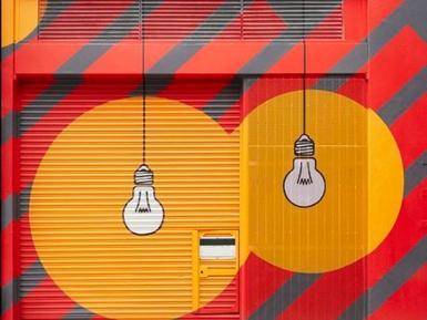 卷帘门及墙体彩绘
