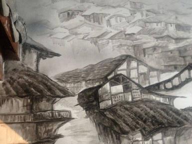 山城水墨细节3